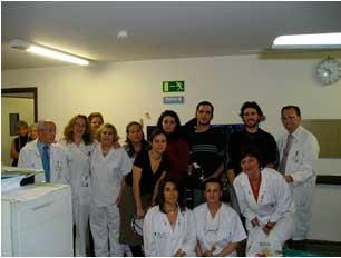 Voluntarias de AEPOVAC en el Hospital Ramón y Cajal - Navidad 2004